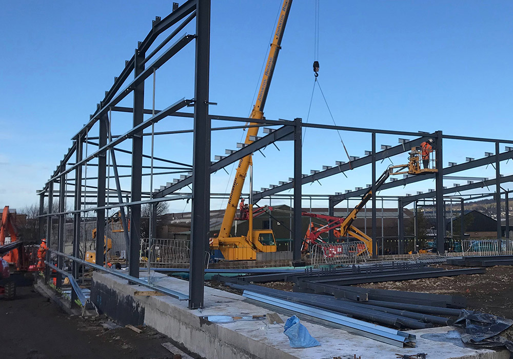 structural steel erection dundee