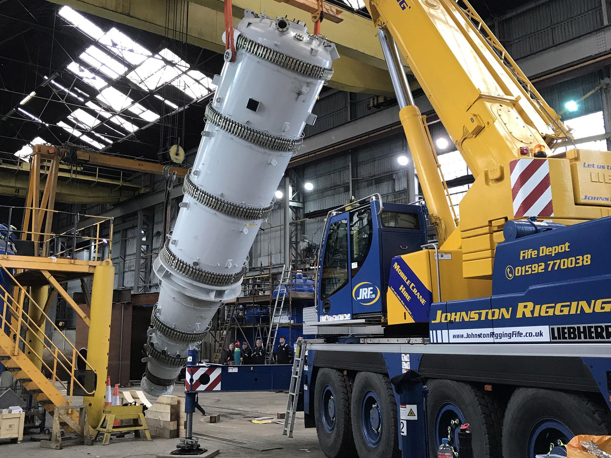 crane hire at docks